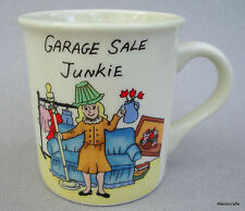 Coffee Mug Garage Sale Junkie 8 oz Fun Novelty Cup Woman with Finds Ceramic