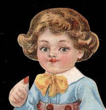 1880's LITTLE JACK HORNER , ESTEY ORGAN, DIE CUT STAND UP TRADE CARD, TC3129