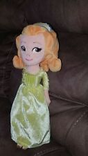 "Disney Parks Sofia the First Princess Amber Plush Girls Toy Doll 13"" BEAUTIFUL"