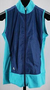 ADIDAS GOLF NWT Technical Wind Breaker Vest Energy Blue Women's Sz XS NEW $75