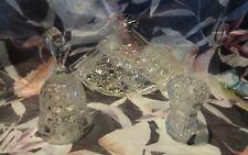 GLASS BELL VASE FAN DRESSING TABLE TRINKET TRAY BY AVON