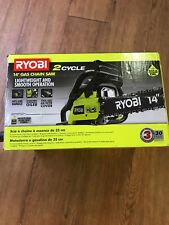 New Ryobi Gas Fuel Powered Chainsaw 14 Inch Bar 2 Cycle  Chain Saw