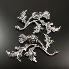 10pcs Vintage Style Silver Tone Thistle Jewelry Accessoies Findings 47*32*2mm
