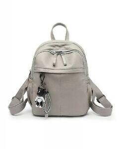 Coolives Light Grey Wrinkle Backpack