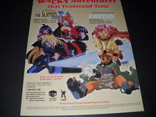 Photon and The Slayers are wacky. Vintage Anime Promo Ad mint condition