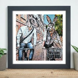 GILLIE AND MARC | Direct from Artists | Ltd Ed Print | Bicycle | Dog Rabbit