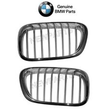 For BMW E53 X5 Pair Set of Front Left & Right Kidney Grill Titanium Look Genuine