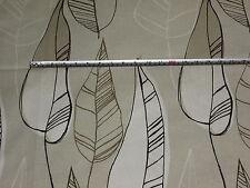 'Macapa' Biscuit Beige, Swaffer Selvas Leaf 100% Cotton Furnishing Fabric 1.6 mt