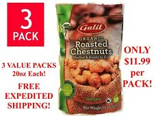 Galil 100% Organic Whole Roasted Chestnuts 3 Packs 20oz Each