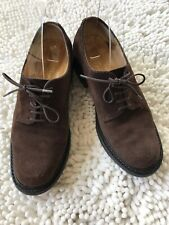Robert Clergerie Brown Suede Lace Up Oxford, 6.5