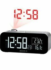 Acctim Colton Radio Controlled Projection Clock VA Display & Temp Sensor (71747)