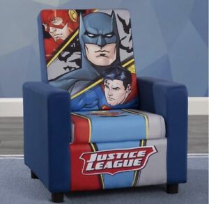 Justice League DC Comics High Back Upholstered Kids Chair