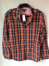 New NWT Men's Banana Republic Plaid Button Down Shirt Slim Fit 16-16 1/2 34-35
