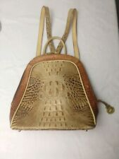 Brahmin Rosemary Tricolor Collection Backpack Alligator Purse