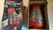 Vintage NASA United States Tin Space Capsule Spaceship in Original Box
