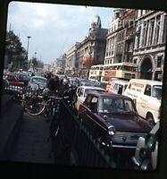 1968 ektachrome Photo slide    Dublin Ireland #6 street scene  Bus Cars