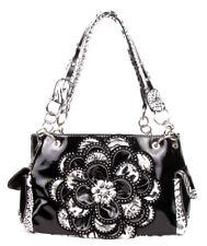 Fashion Leopard Rhinestone Leaf Flowers Pocket Purse Handbag