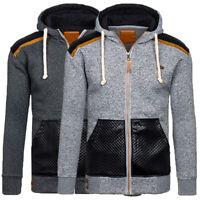 Mens Warm Hoodie Hooded Sweatshirt Top Coat Jacket Outwear Jumper Winter Sweater