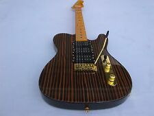Bloode-Axe Telecaster Tele-Strat Zebrawood Body Maple Neck - Fender 5 way Switch