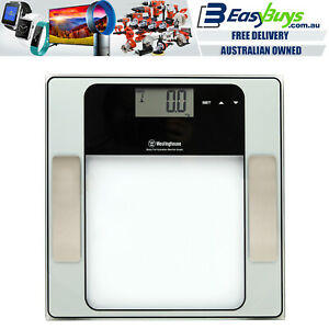 Westinghouse PRO Bathroom Scales Digital Glass 150kg Electronic Scale LCD Fat