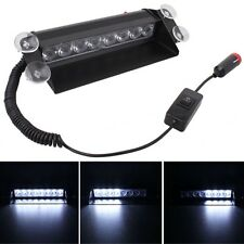 8W 800LM 8-LED White Light 3-Modes Adjustable Angle Car Strobe Flash Dash Emerge