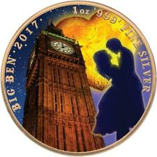 UK 2017 £2 Landmarks of Britain - Big Ben Valentine's Day 1oz Gold Plated Coin