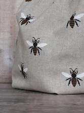 Bee drawstring bag.