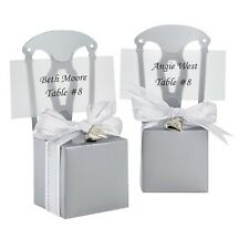 60 x Silver Chair Wedding Bomboniere Favour Boxes Place card Holders