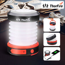 ThorFire USB Rechargeable LED Solar Camping Lantern Collapsible Mini Light Torch