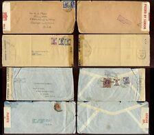 India 1940-44 WW2 censurato... 4 copre... condizioni miste