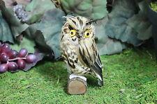 Brown Realistic Feather Owl Bird Taxidermy Owls Furry Animal Bird Small