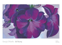 1924 by Georgia O/'Keeffe Art Print Floral Poster 18x28 From the Lake No.1