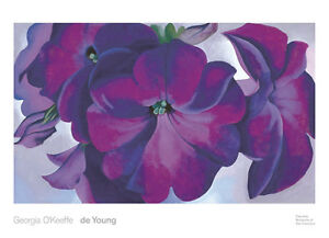 Petunias, 1925 Georgia O'Keeffe Art Print Poster Purple Flower Floral 36x26