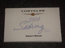 2004 Chrysler Sebring Sedan Owners Manual