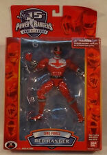 "Power Rangers Time Force 6.5"" 15th Anniversary Red Ranger Bandai (MISB) 2006"