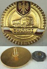 Exemplary Driver Gold Gilt Badge Pin Polish Medal Award (Wzorowy Kierowca)