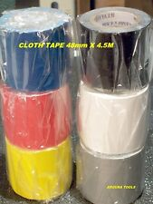 CLOTH TAPE 6 ROLLS MIXED COLOURS - 48mm X 4.5M -NEW