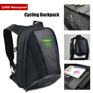 Motorcycle Rear Seat Bag Back Tail Helmet Bag 1200D Waterproof Extended Luggage