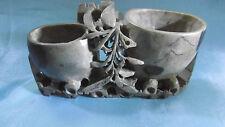 sculpture chinoise pierre de lard (stéatite) pour pinceaux vintage