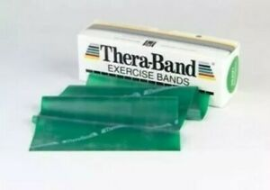 Theraband 6 yards / 18 feet Green RESISTIVE Exercise BAND NEW PHYSICAL THERAPY