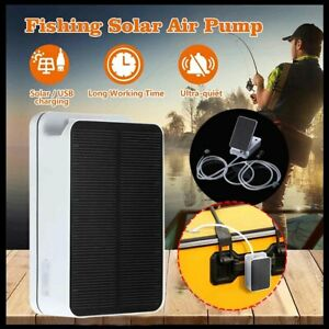 Day/ Night Solar Powered Oxygenator Air Pump Oxygen Aerator Fish Pond Pool Water