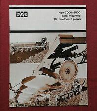 "1976 ""NEW CASE 7000 8000 SEMI-MOUNTED 18"" MOLDBOARD PLOW"" CATALOG SALES BROCHURE"