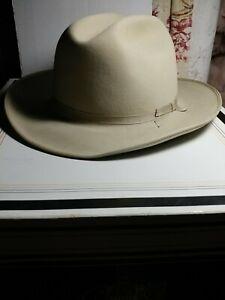 Stetson-Open Road Western Dress hat-Silver Belly-4X Beaver-Sz 7 (56) w/orig. Box