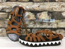 BIMBA Y LOLA Damen Schuhe Schuh Sandale Plateausandale Gelbbraun Schnürer   NEU
