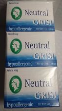 12 NATURAL SOAP NEUTRAL GRISI HYPOALLERGENIC NET WT 3.5 OZ EACH JABON NEUTRO