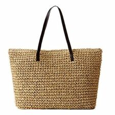 Beige Tote Straw Bags & Handbags for Women