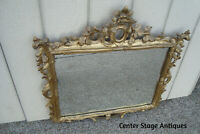 60992 Antique Wood Mirror in Fancy Carved Picture Frame