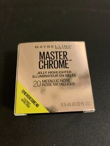 New Maybelline Master Chrome Jelly Highlighter #20 Metallic Rose