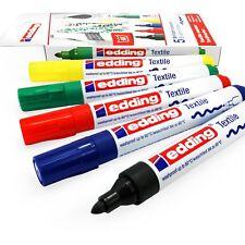 Edding 4500 Textil Lápices Marcadores - 2-3mm Punta Redonda - Básicas Colores -
