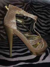 SEXY Décolleté donna glitter oro alto14cm 39